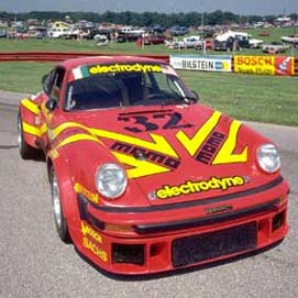 Electrodyne Porsche 934 from front