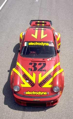 Porsche 934 from overhead